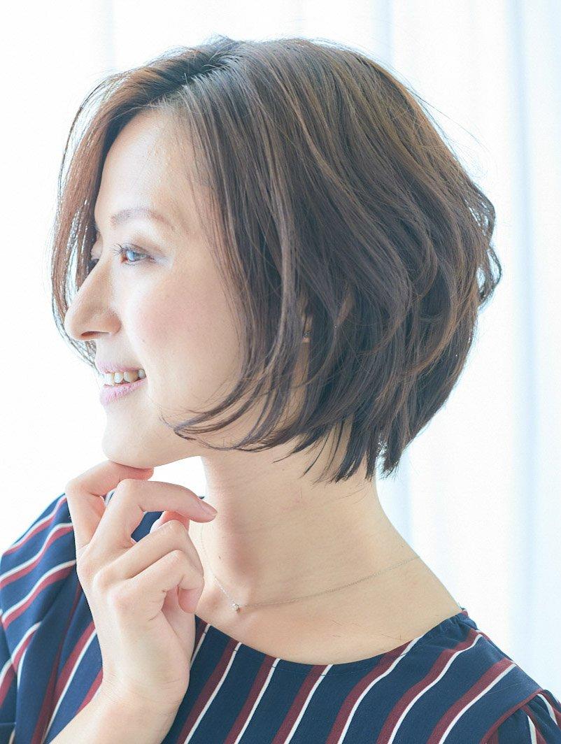 髪型女性ショートボブ